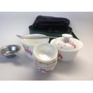Керамический чайный набор из 10 приборов + дорожный кейс в подарок