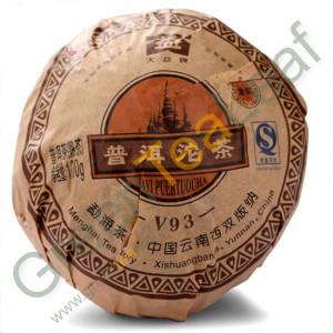 Шу пуэр То Ча Даи V93, Мэнхай, Юньнань, 2008 год, 100г