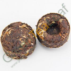 Шу пуэр мини с хризантемой в форме миниточа, 2013 год, 1шт.