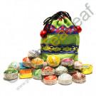 Набор мини Пуэр 23 разных сорта, тканевый мешок, Юньнань