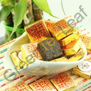 Шу пуэр мини-кирпич высший сорт, ЮпинТанг, 2013 год, 1шт.