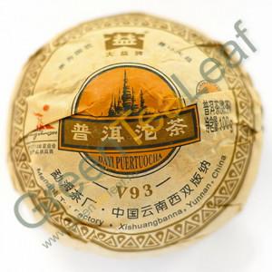 Шу пуэр То Ча Даи V93, Мэнхай, Юньнань, 2010 год, 100г