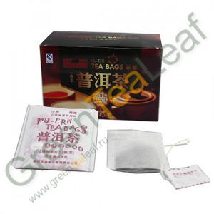 Китайский темный шу пуэр для похудения в пакетиках, 20 шт в упаковке