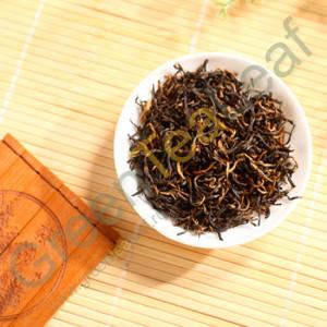 Черный чай Цзинь Цзюнь Мей (Золотые брови), премиум, Фуцзянь, банка, 80г