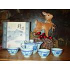 """Чайный набор из 5 приборов  """"Синий пион"""""""