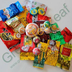 Набор китайского чая 25 разных сортов (улун, пуэр, зеленый и др.)