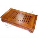 Деревянный чайный поднос (чабань), с лотком, выдвижной, бамбук