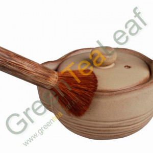 Инструмент для чая, мягкая кисть на деревянной ручке
