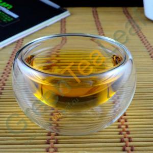 Традиционная китайская чаша для чаепития, двойное стекло