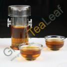 Термостойкий чайный набор для заваривания чая, заварной чайник и две чашки