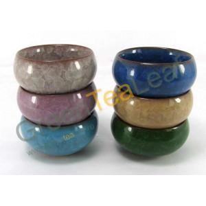 Керамическая чаша для чая, многоцветные, отделка глазурь