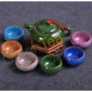 Керамический чайный набор из 7 приборов в подарочной упаковке