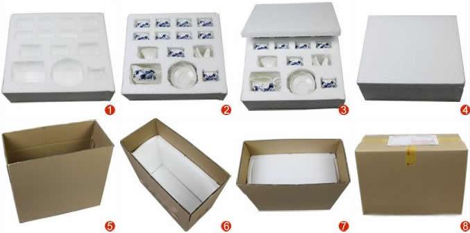 Упаковка посылок с китайской посудой