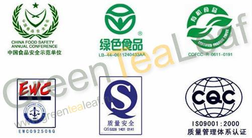 Сертификаты Yi-Pin-Tang Tea